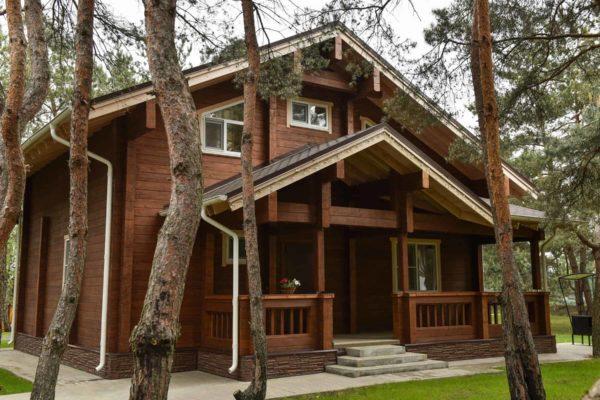 Гостевые дома в лесу.